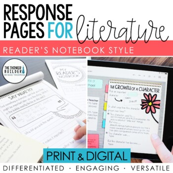 Reader's Notebook for Literature {HUGE Collection of Flexible Response Pages!}