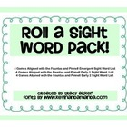 A Roll a Sight Word Game Pack