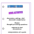 A SINGLE SHARD LITERARY ACTIVITIES