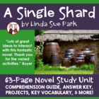 A Single Shard Reading Comprehension Activity Guide