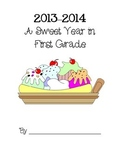 A Sweet Year Memory Book Cover Pages 2013-2014