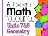 A Teacher's Math Resource Units 7 and 8 Geometry