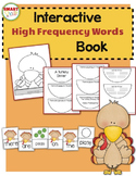 A Turkey Dinner {Interactive High-Frequency Words Book}