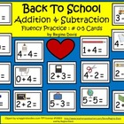 A+  Back To School FREEBIE: Addition & Subtraction Fluency