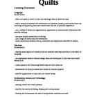 A Unit on Quilts