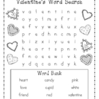 A Valentine's Day Word Search