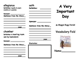 A Very Important Day Vocabulary Fold-able
