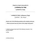 A Wrinkle in Time Unit Study