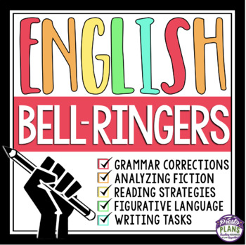 BELL-RINGERS FOR MIDDLE & HIGH ENGLISH {Common Core}