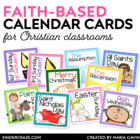 A Year of Faith Calendar Reminder Cards