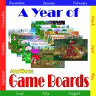 A Year of Game Boards:  Multiuse Game Boards for Classroom