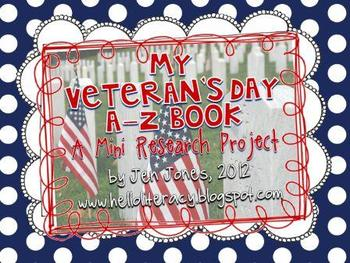 A-Z Book: Veteran's Day