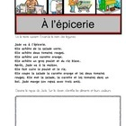 A l'epicerie (French Reading Comprehension)