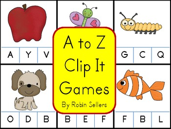 A to Z Alphabet Clip It Games