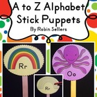A to Z Alphabet Stick Puppets