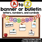 A to Z Banner or Bunting - Rainbow