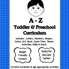 A to Z Toddler and Preschool Curriculum - for Daycare