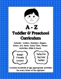 A to Z Pre-K, Complete Theme-Based Curriculum and Managment Plan