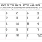 ABC Chart for Maya, Inca and Aztec Civilizations