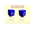 ABC Dice - Letter Sounds & Uppercase - Lowercase Matching