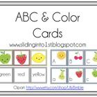 ABC Fruit Cards {freebie}