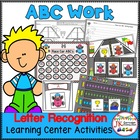 Letter Recognition! Race Car ABCs Literacy Center Activiti