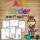 ABC Order Celebration Alphabetical Order Worksheets 1st, 2nd, 3rd