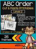 ABC Order Cut and Paste Printables: Level 2 {26 themes}