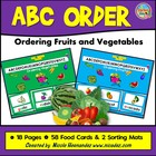 ABC Order Dash! Ordering Fruits 'n Veggies- Kindergarten t