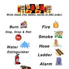 ABC Order Fire Safety Words