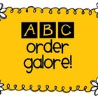 ABC Order Galore $2 Sample
