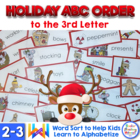 ABC Order to the 3rd Letter - R is for Reindeer Freebie