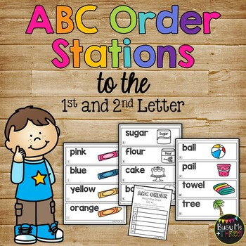 ABC Order to the First and Second Letter Alphabetical Orde