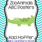 ABC Posters with Zoo Animals {Chevron)