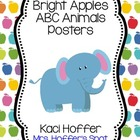 ABC Posters with Zoo Animals {Bright Apples}