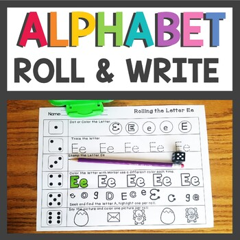 ABC ~ Roll the Dice Alphabet Activities