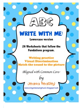 Fundations ABC Write with Me! Lowercase Version