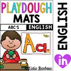 ABC play dough mats