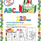 ABC...123...Alphabet Bingo and Coloring Sheets with Numbers