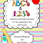 ABC's & 1,2,3's -> Literacy and Math Centers for Back to School