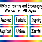 ABC's of Positive and Encouraging Words for All Ages
