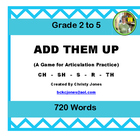 ADD THEM UP! CH-SH-TH-S-R  (A Game for Articulation Practice)