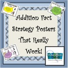 ADDITION FACT STRATEGY POSTERS TO USE WITH FLASH CARDS
