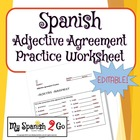 ADJECTIVE AGREEMENT:  Practice Worksheet