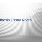 AP Language Synthesis Essay notes