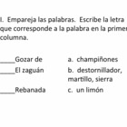 AP Spanish Triángulo Vocabulary Quiz for el Hogar
