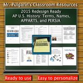 2014 Redesign Updated - AP U.S. History: Terms, Names, APP