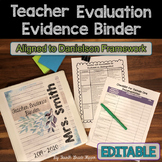 Danielson Teacher Evaluation {Editable} Binder Organizers