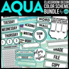 AQUA MODERN PATTERNS Classroom Color Scheme/Theme EDITABLE