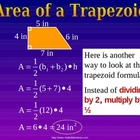 AREA OF A TRAPEZOID a Powerpoint Presentation